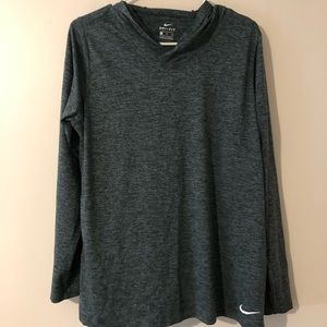 Nike long sleeve top with hoodie